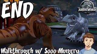getlinkyoutube.com-LEGO Jurassic World ENDING - Final Boss Indominus Rex Vs. T-Rex (Xbox One, PS4 Gameplay)