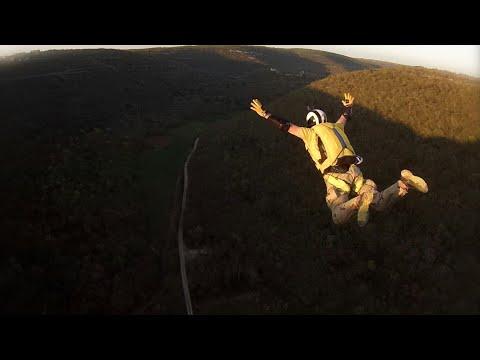 BASE jumping. Обучение Хорватия.