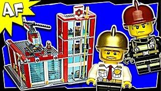 getlinkyoutube.com-Lego City FIRE STATION 60004 Stop Motion Build Review