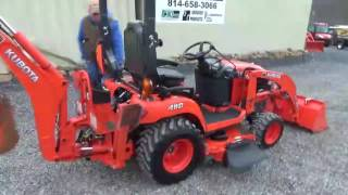 getlinkyoutube.com-2014 Kubota BX25D Compact Tractor Loader Backhoe Belly Mower For Sale
