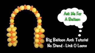 getlinkyoutube.com-Big Balloon Arch without A Stand/Frame - Tutorial