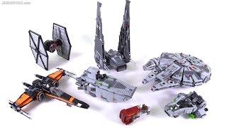 getlinkyoutube.com-LEGO Star Wars Force Awakens wave 1 2015 ships & vehicles summary!
