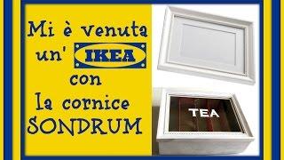 getlinkyoutube.com-Mi è venuta un'Ikea Shabby-Chic con la cornice Sondrum: Tea box/ scatola per il tea!!Arte per Te