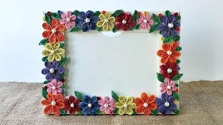 getlinkyoutube.com-How To Create A Colorful Floral Photo Frame - DIY Crafts Tutorial - Guidecentral