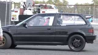 getlinkyoutube.com-Nyce1s - RPL Performance All Motor Civic EF @ Atco Dragway....