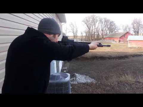 Recoil test with Jerry miculek brake