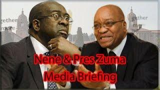 Pres. Zuma and Nhlanhla Nene Media Briefing