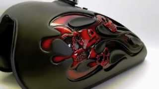 "getlinkyoutube.com-Disciplined1Designs - ""3D Flames & Skulls Tank"""