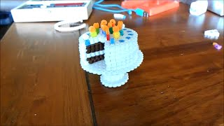 3D Perler Bead Cake and Stand
