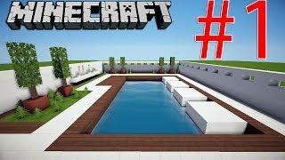 getlinkyoutube.com-Minecraft Tutorial: Casa Moderna Pt.1 - Piscina