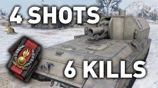 getlinkyoutube.com-World of Tanks || 4 Shots, 6 Kills...