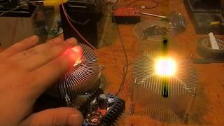 getlinkyoutube.com-Cob Led 10W  в сравнении с матричными светодиодами на 10 Ватт