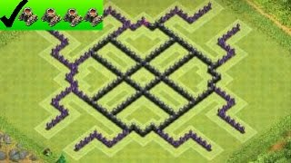 getlinkyoutube.com-Clash Of Clans- Best Th8 - Town Hall 8 Farming Base 4 Mortar Update ( spider trapp) 60fps !