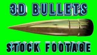 getlinkyoutube.com-3D Bullets Stock Footage Pack! - .50 Cal & 9mm Bullets