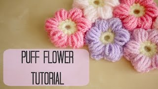 getlinkyoutube.com-CROCHET: How to crochet a puff flower | Bella Coco