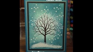getlinkyoutube.com-Stampin' Up! Video Tutorial  Sheltering Tree Emboss Resist