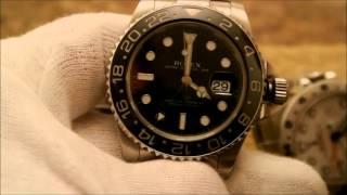 getlinkyoutube.com-Visually verify authenticity Rolex GMT Master II 116710 from a fake or replica