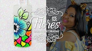 getlinkyoutube.com-Unhas Decoradas com Flores em Carga Dupla para o Carnaval    Cola na Villar