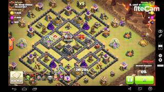GoLaLoon. 3 Star MAX TH9. the general base w/ air sweeper. COC