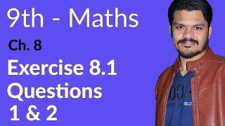 9th Class maths book in Urdu,Ex 8.1 Qu no 1 & 2 -Mathematics Ch 8 Linear Graphs & Their Application