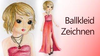 getlinkyoutube.com-TOPModel: Ein Ballkleid zeichnen