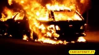 auto in fiamme a cariati