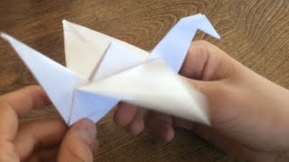getlinkyoutube.com-How To Make A Paper Bird That Flaps its wings EASY!