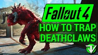 getlinkyoutube.com-FALLOUT 4: How To Trap DEATHCLAWS in Wasteland Workshop DLC! (Everything About Caging Creatures)