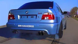 getlinkyoutube.com-BMW M5 E39 V8 Sound + 0-280 Acceleration Autobahn Onboard Flames Eisenmann Exhaust