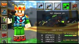 getlinkyoutube.com-Pixel Gun 3D Minecraft Style NEW WEAPON | Pet Dragon | Fire ORB | #12