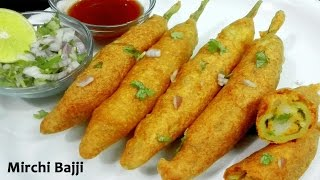getlinkyoutube.com-Mirchi Bajji - Stuffed Mirchi Bada Recipe || Mirchi Bhajia