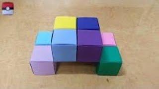 getlinkyoutube.com-450 Origami  종이접기 (변신  큐브)  Cube 색종이접기  摺紙 折纸 оригами 折り紙  اوريغامي