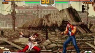 getlinkyoutube.com-the king of fighter 2001, kof 2002, kof 2004 y Snk Vs Capcom PSP