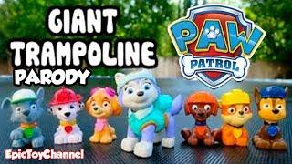 getlinkyoutube.com-PAW PATROL (Parody) New Pup EVEREST & Paw Patrol Bounce on GIANT Trampoline by EpicToyChannel