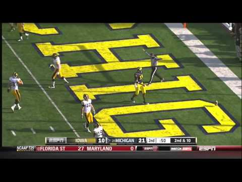 Devin Gardner (QB Michigan) vs Iowa 2012