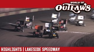 getlinkyoutube.com-World of Outlaws Craftsman Sprint Cars Lakeside Speedway October 21st, 2016 | HIGHLIGHTS