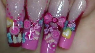 getlinkyoutube.com-Uñas acrílicas romanticas/ Valentine's nails design