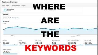 getlinkyoutube.com-Google Analytics Keywords Not Showing  | Where to Find Keywords in Google Analytics New Update