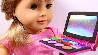 getlinkyoutube.com-DIY AG American Girl Doll Makeup