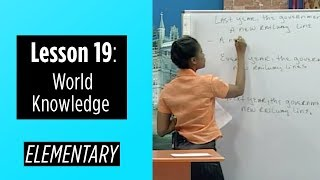 Elementary Levels - Lesson 19: World Knowledge