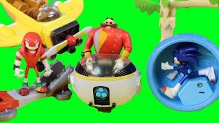 getlinkyoutube.com-Sonic The Hedgehog Toys Sonic Boom launcher Burnbot Dr. Eggman Orbot Cubot Knuckles Tales Plane