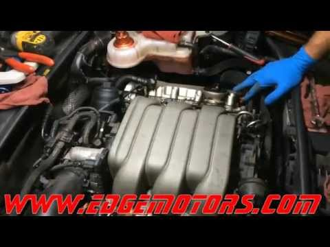 Audi 3.2L fsi motor intake manifold carbon build up and thermostat replacement DIY by Edge Motors