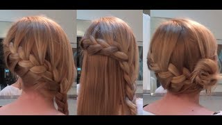 getlinkyoutube.com-10 Easy Quick Everyday Hairstyles for long hair : Side French Braid Edition