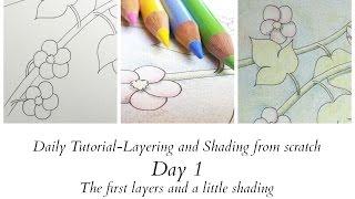 getlinkyoutube.com-Daily Tutorial - Day 1 - layering and shading