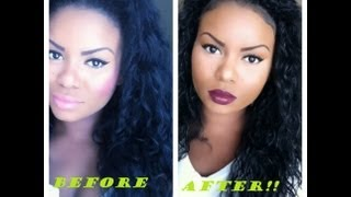 getlinkyoutube.com-HOW TO REVIVE SYNTHETIC HAIR! [CURLY HAIR]