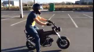 getlinkyoutube.com-wheelie practice dax 50cc