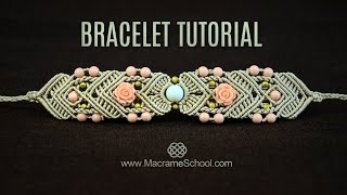 getlinkyoutube.com-Mirrored Macramé Bracelet TUTORIAL by Macrame School