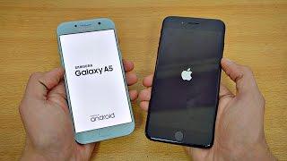 getlinkyoutube.com-Samsung Galaxy A5 (2017) vs iPhone 7 Plus - Speed Test! (4K)