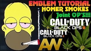 getlinkyoutube.com-Black ops 3 Homer smokes : Joint ops emblem tutorial Black ops 2 Advanced warfare