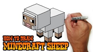 getlinkyoutube.com-How to Draw Minecraft Sheep- 2D Perspective Video Lesson